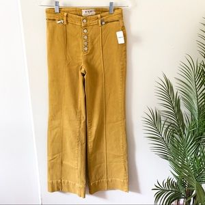 NWT Free People | Yellow Button Fly Flare